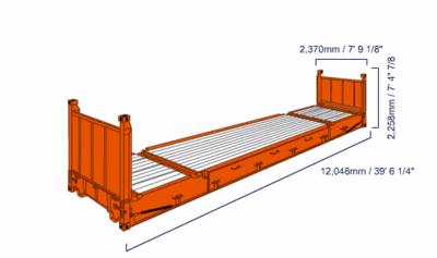 40' FLAT RACK CONTAINER